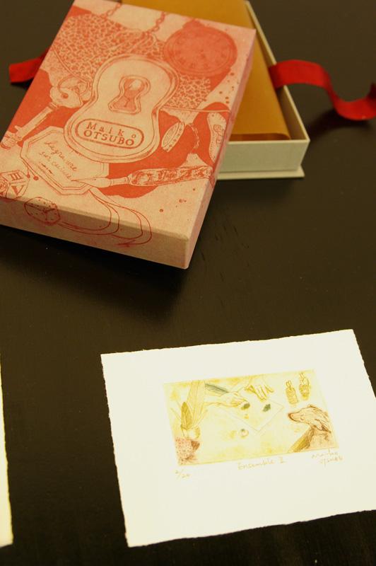 銅版画と貼箱のコラボ