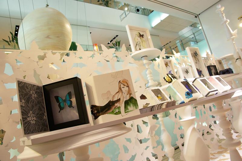 クリエイティブエキスポ2011<バタフライ・コンピレーション・コレクション 2011>「蝶×イラスト×リバーレース×貼箱」