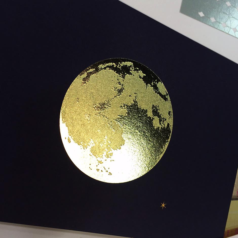 箔とファンシーペーパーのコラボ展