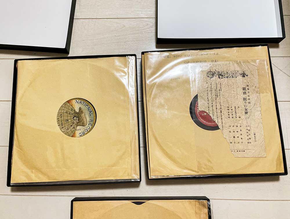 SP盤レコードの収納箱、貼り箱