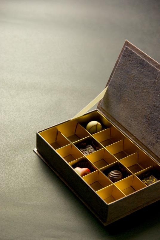 チョコレート貼り箱