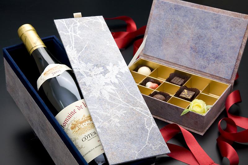 ワイン貼り箱、サーフェイスデザイン
