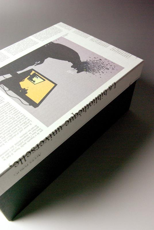 <ニュースペーパー貼箱> アートディレクション/制作/撮影:村上誠/村上紙器工業所