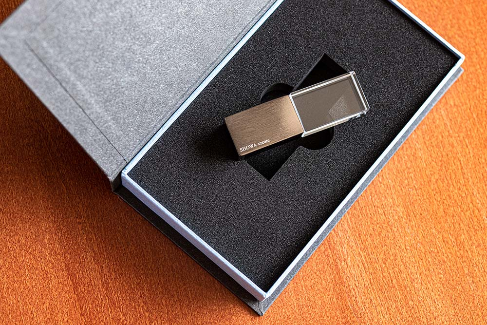 お客様をつなぐ大切な接点になるパッケージ、貼り箱、USBメモリケース、コンタクトポイント、マーケティング、ブライダルムービー、ウェディングムービー、映像制作、データ保存