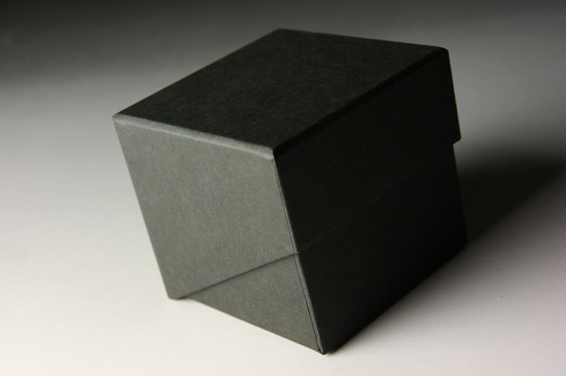 ブロックメモボックス、貼り箱、化粧箱、かぶせフタ式、斜めカット