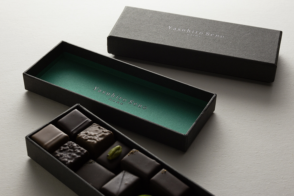 上質なチョコレートを、上質なパッケージで届ける.....。CMFデザインパッケージ、貼り箱