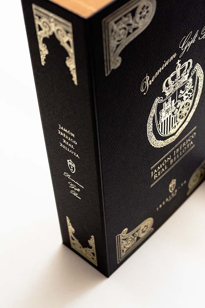 商品価値を高める最高級イベリコ豚のギフトボックス、貼り箱、化粧箱、紙箱