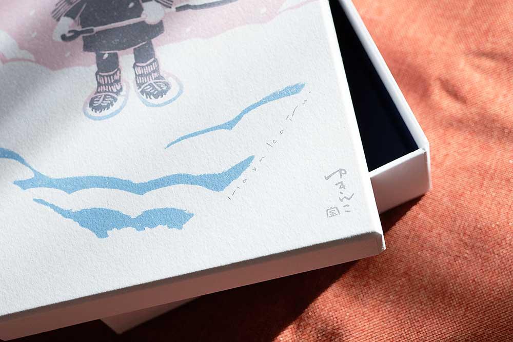マーメイド新色と木版画活版印刷パッケージ、貼り箱
