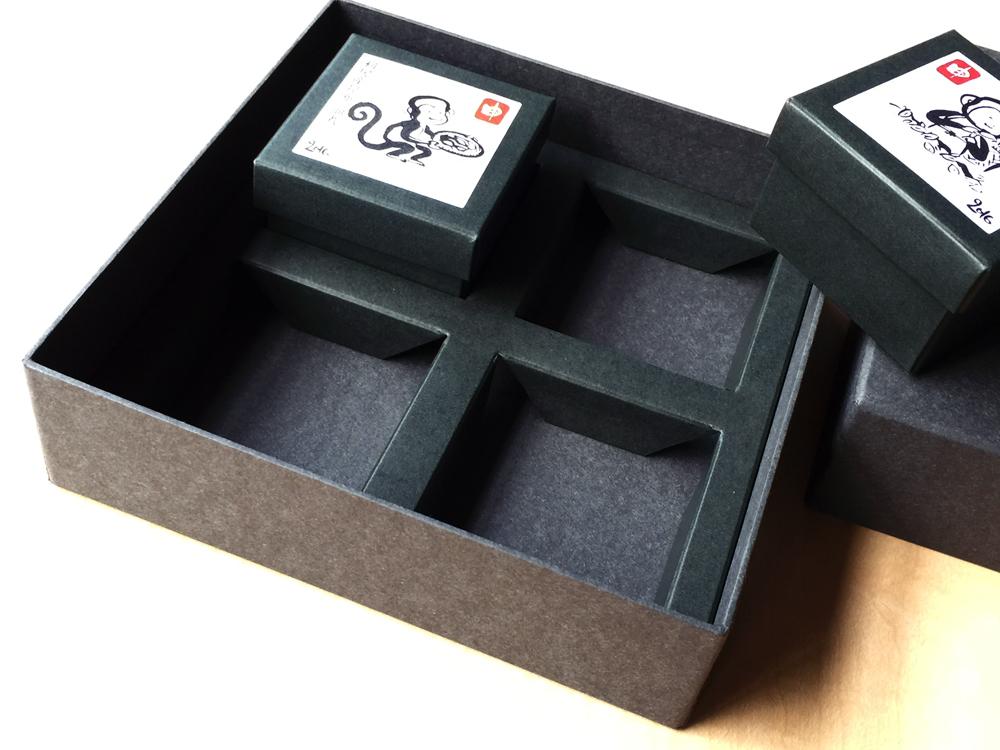 お年賀の挨拶用昆布セットの貼箱