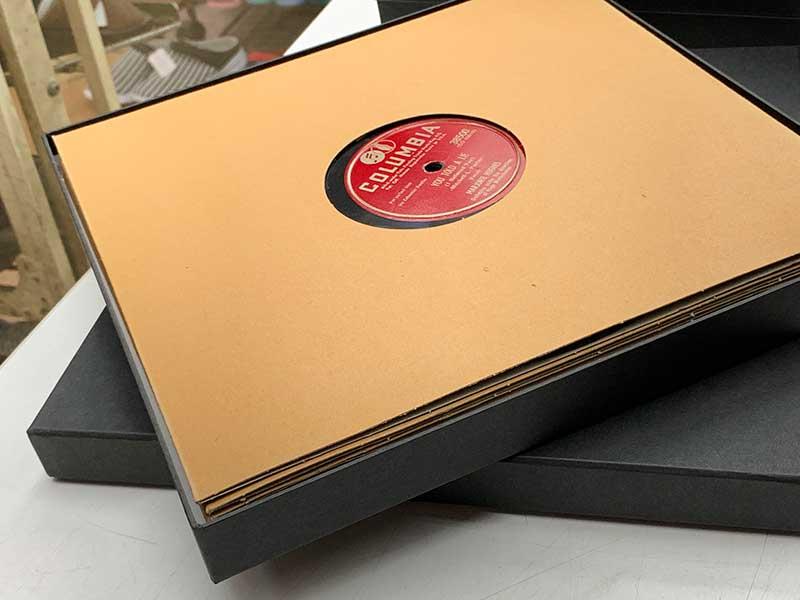 新譜レコード商品パッケージ、レコードボックス、LP、SP