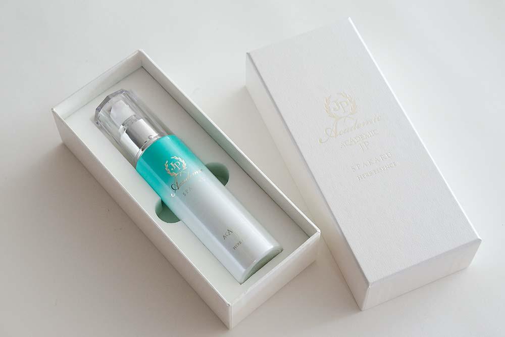 幹細胞コスメのミニマルデザインなパッケージ、貼り箱、紙箱、化粧箱